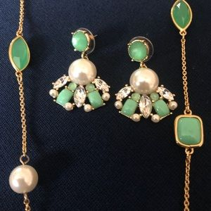 Kate Spade necklace and earring set.